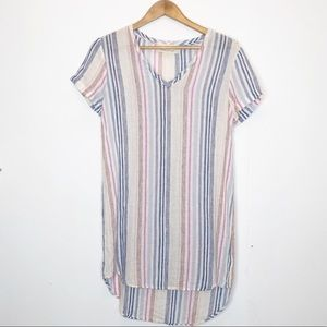 Anthropologie cloth & Stone striped t shirt dress